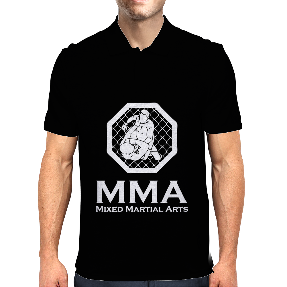 MMA Mixed Martial Arts Mens Polo