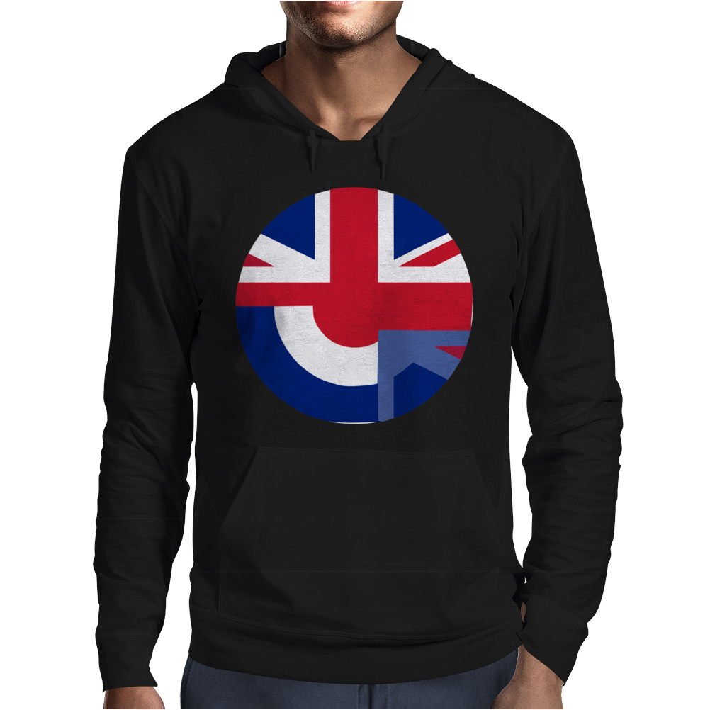 Mod Union Jack, Ideal Gift, Birthday Present Mens Hoodie