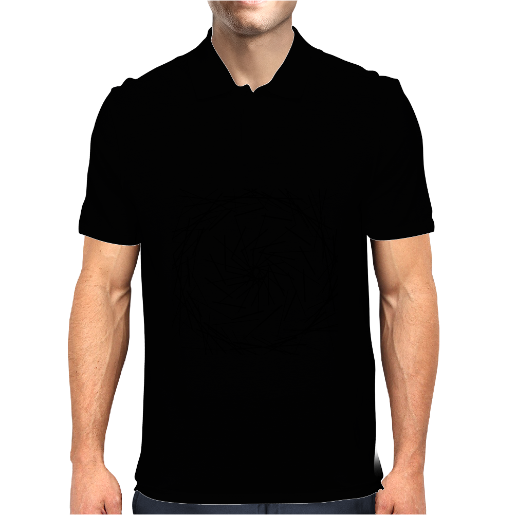 Modern simple lines Black and White Mens Polo