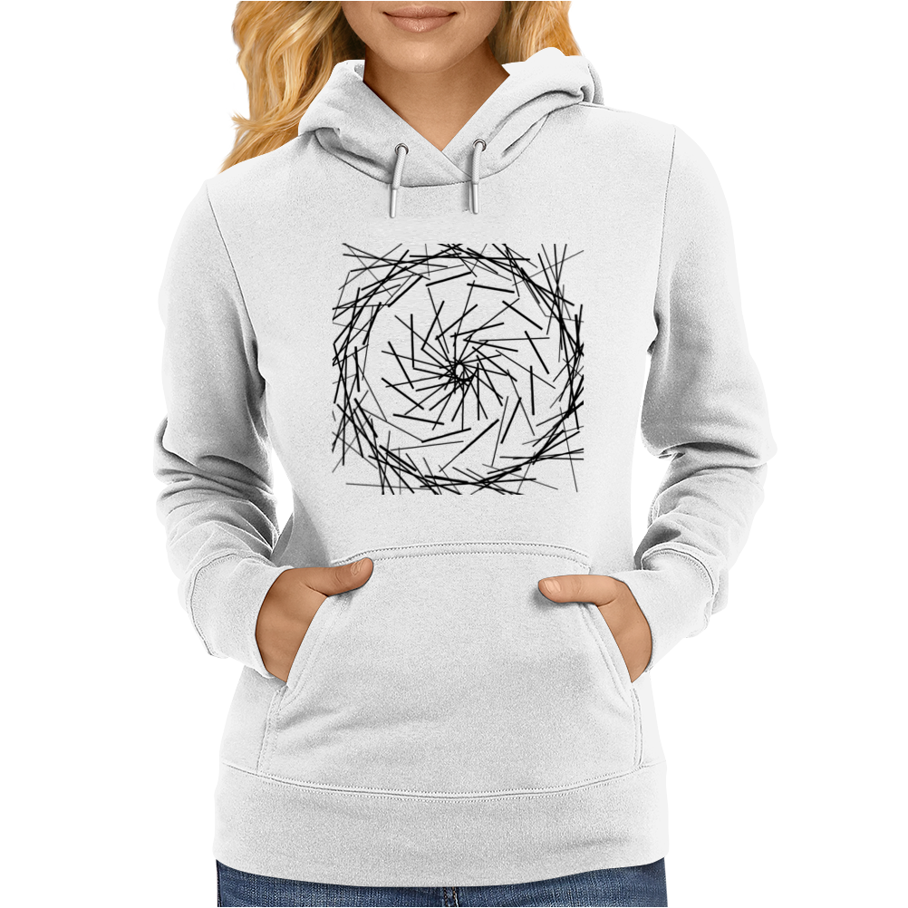 Modern simple lines Black and White Womens Hoodie