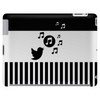 Modern stylish song bird on stripes Tablet (horizontal)