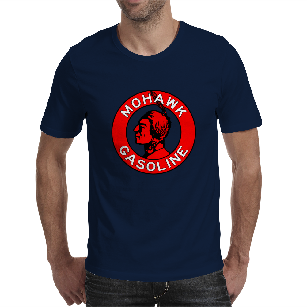 Mohawk Gasoline vintage sign flat version Mens T-Shirt