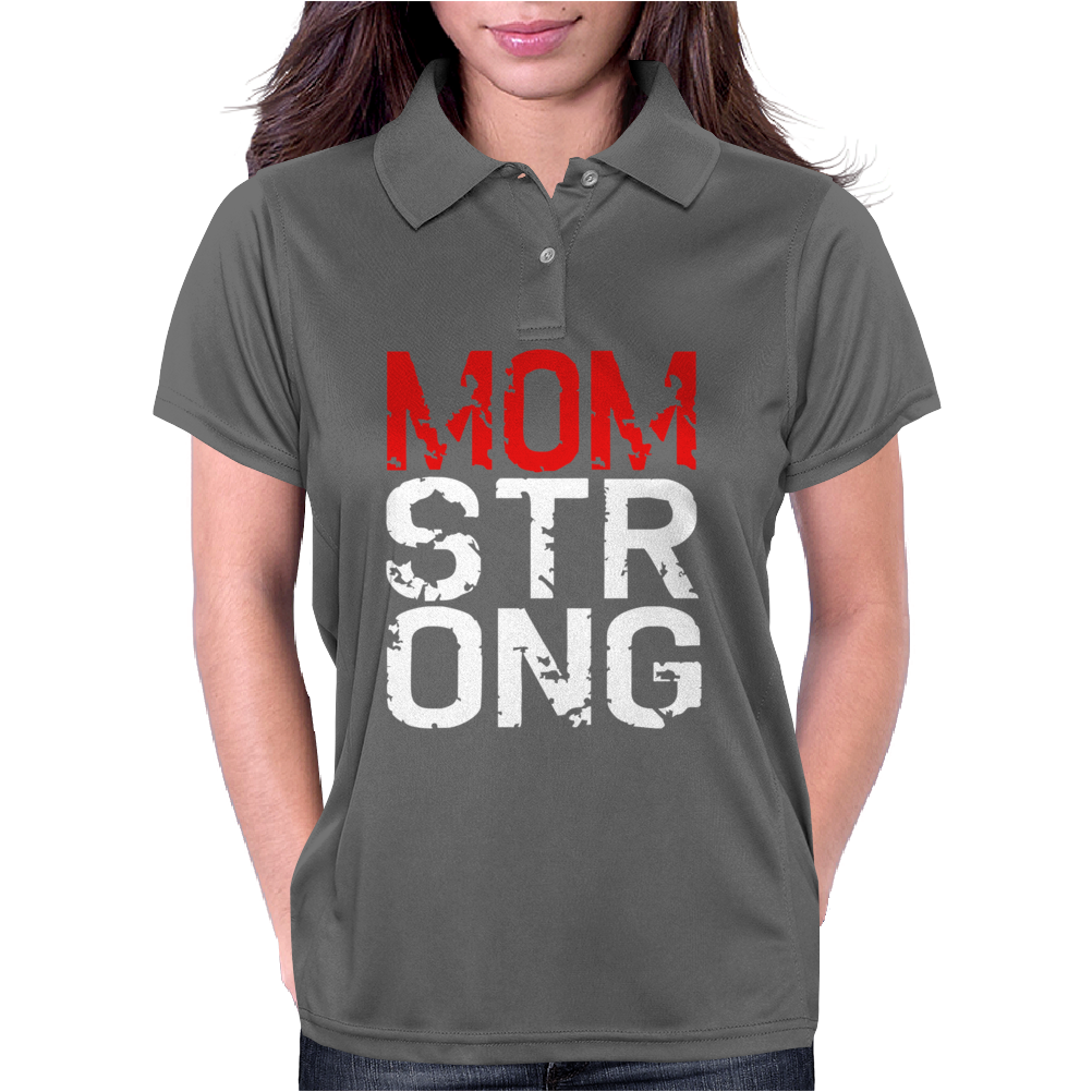 MOM STRONG Womens Polo