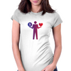 Money or love / Dollar Womens Fitted T-Shirt