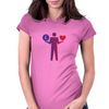Money or love  Womens Fitted T-Shirt