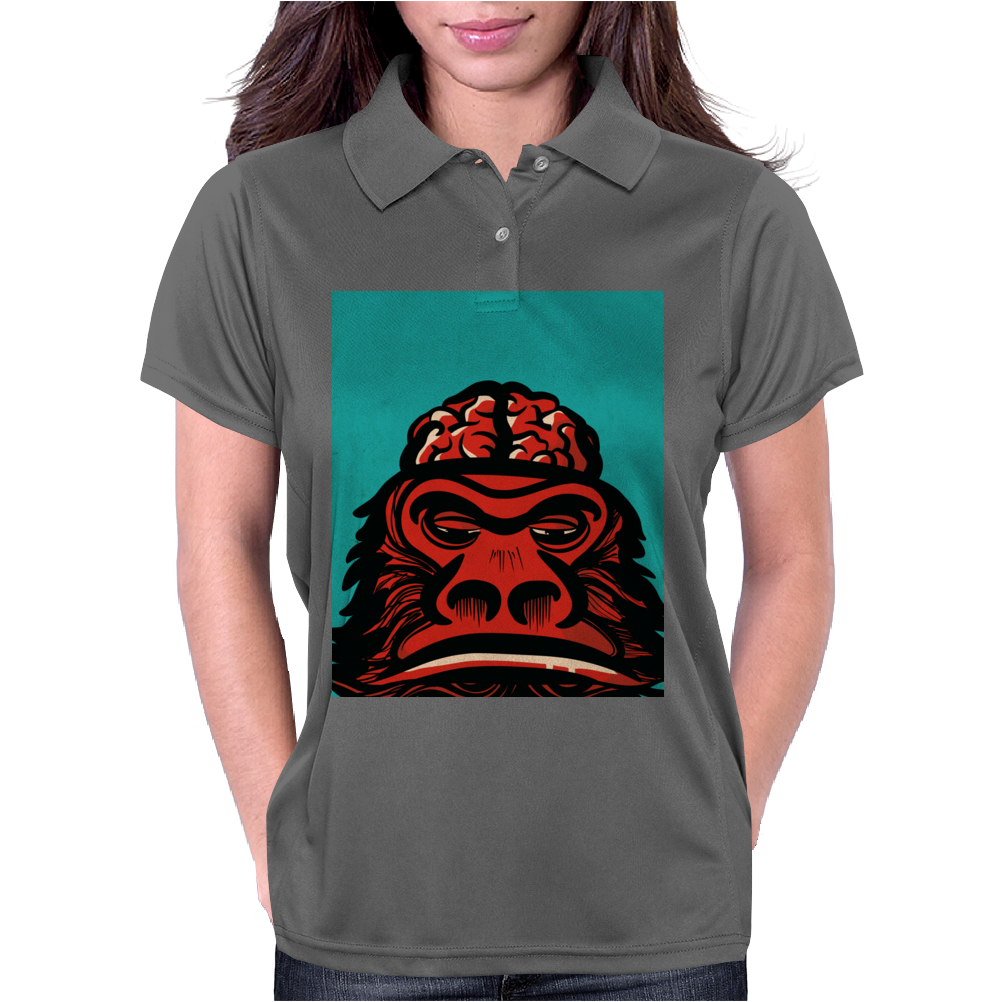 Monkeybrains in green Womens Polo