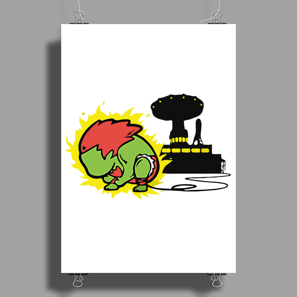 monster green Poster Print (Portrait)