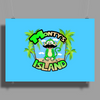 Monty's Island (My Store's Mascot) Poster Print (Landscape)