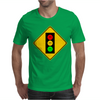 Moody Stoplight Ahead Mens T-Shirt
