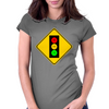 Moody Stoplight Ahead Womens Fitted T-Shirt