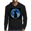 Moon and Cat Mens Hoodie