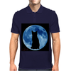 Moon and Cat Mens Polo