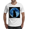 Moon and Cat Mens T-Shirt