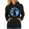 Moon and Cat Womens Hoodie