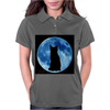 Moon and Cat Womens Polo