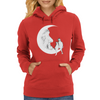 Moon and cats Womens Hoodie