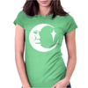 Moon Face Decal Womens Fitted T-Shirt
