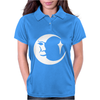 Moon Face Decal Womens Polo
