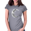 Moon Hug Womens Fitted T-Shirt