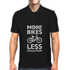 More Bikes Less Pollution Mens Polo