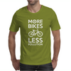 More Bikes Less Pollution Mens T-Shirt