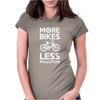 More Bikes Less Pollution Womens Fitted T-Shirt