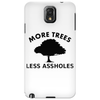 More trees, Less assholes blk Phone Case
