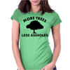More trees, Less assholes blk Womens Fitted T-Shirt