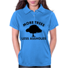 More trees, Less assholes blk Womens Polo