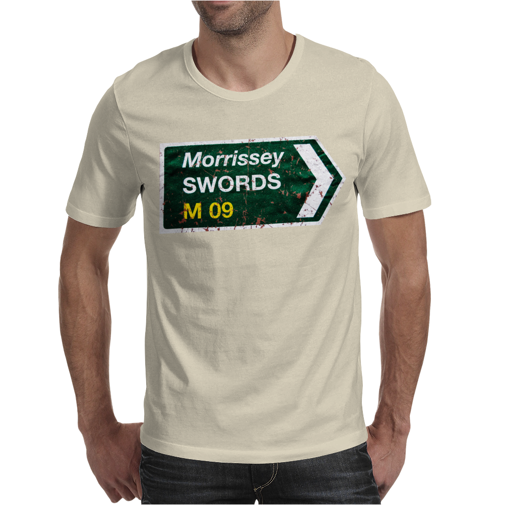 Morrissey Roadsign Swords M 09 Tour Mens T-Shirt