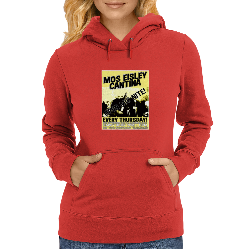 Mos Eisley Cantina Open Mic Night Womens Hoodie
