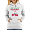 Most Wonderful Time For A Beer Womens Hoodie