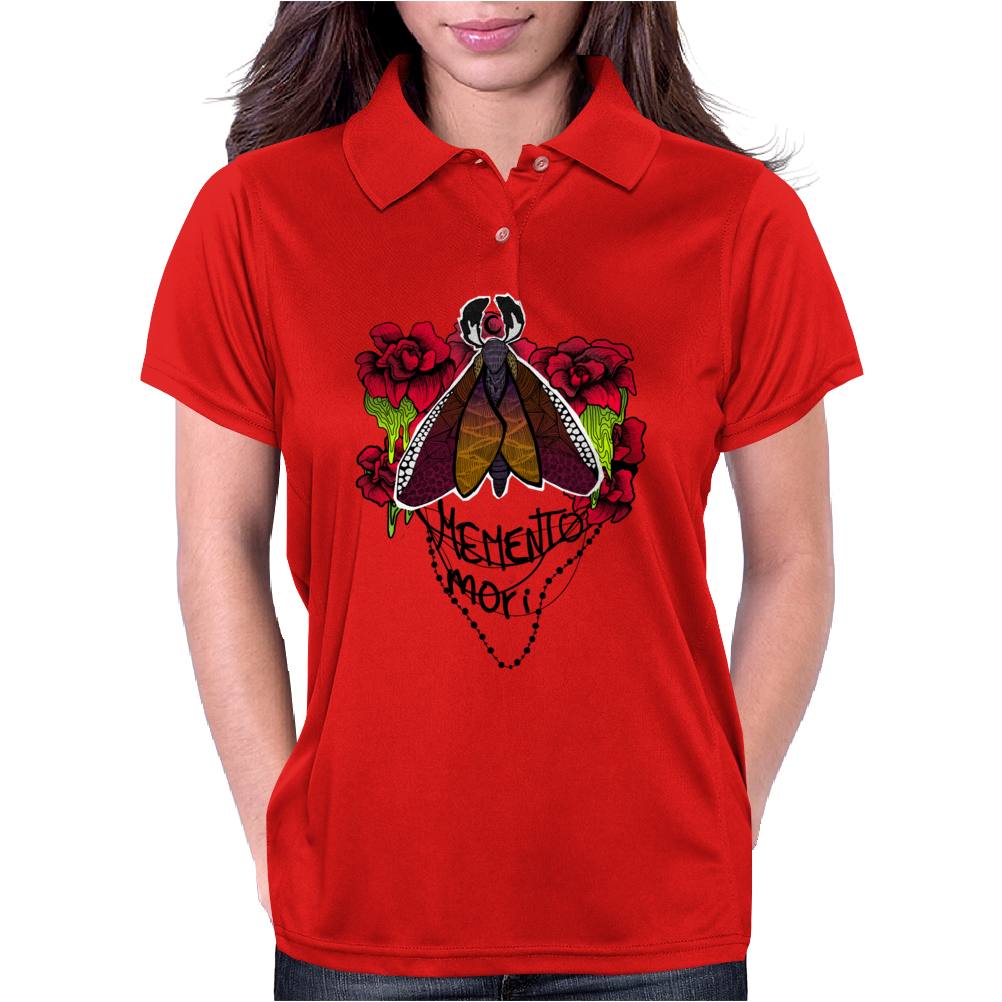 Moth Memento Mori Womens Polo