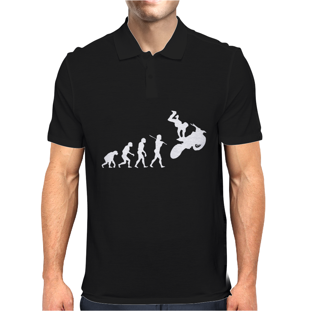 Moto Cross Free Style Evolution Cool Mens Polo