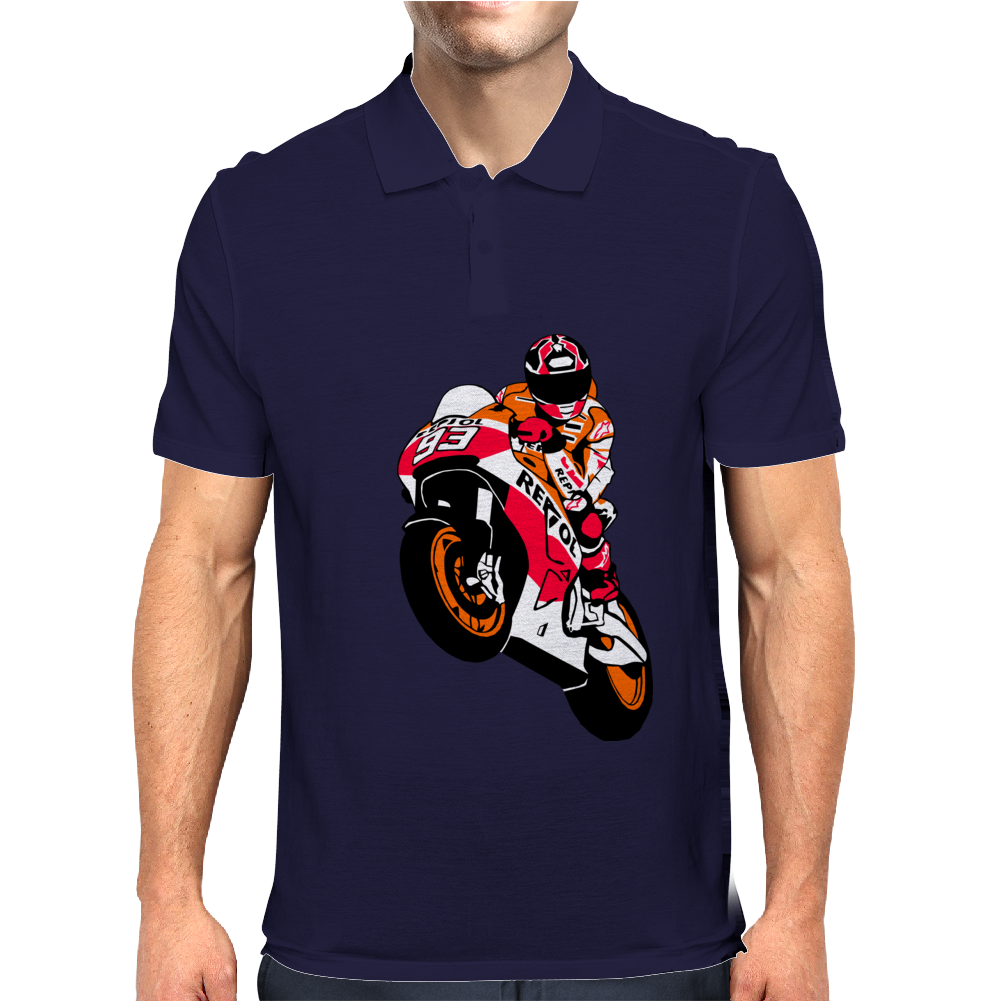 Moto-GP Racing Marquez Mens Polo