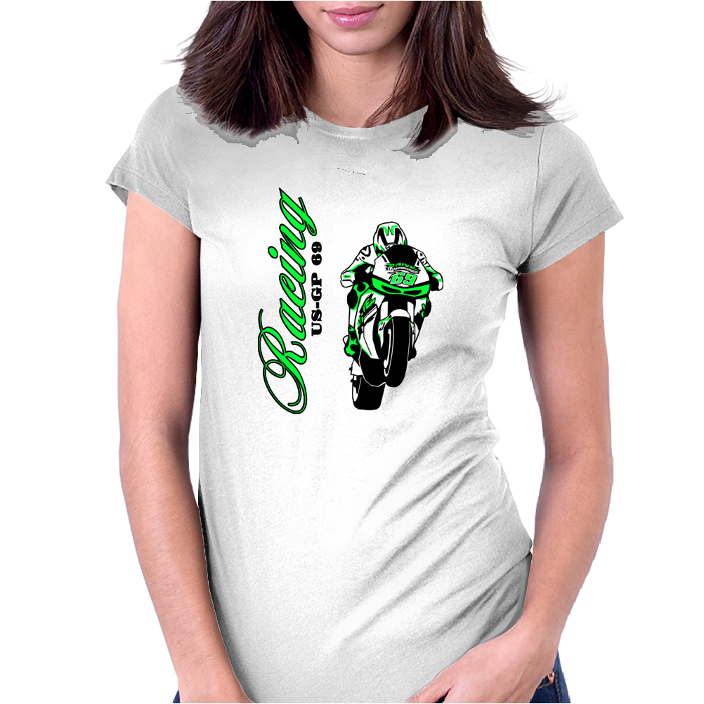 Moto-GP Racing Womens Fitted T-Shirt
