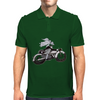 Motorcycle and Angel  Mens Polo