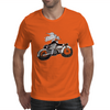 Motorcycle and Angel  Mens T-Shirt