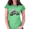 Motorcycle and Angel  Womens Fitted T-Shirt