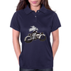 Motorcycle and Angel  Womens Polo