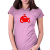 Motorcycle racer Womens Fitted T-Shirt