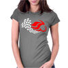 Motorcycle Racing Womens Fitted T-Shirt