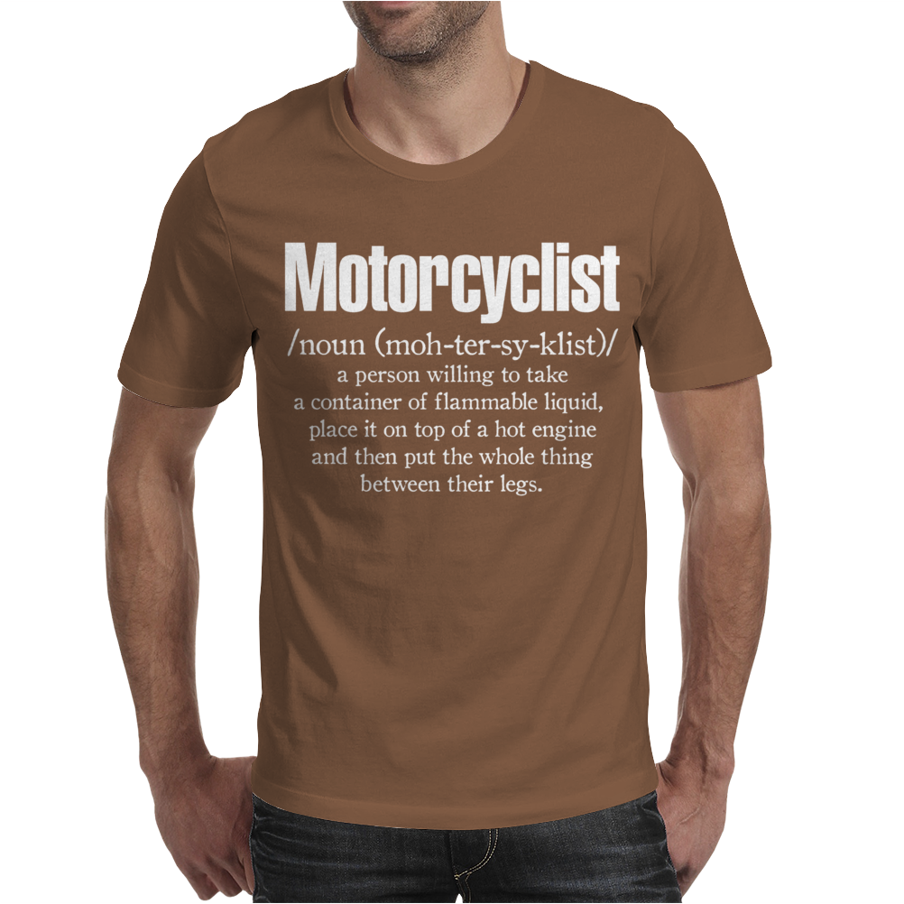 Motorcyclist Mens T-Shirt
