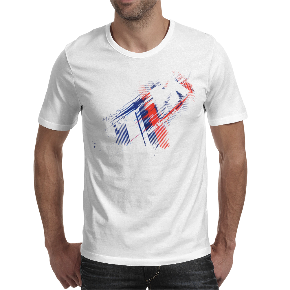 Motorsport M Stripes & Logo Mens T-Shirt