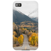 Mountain road and forest Phone Case