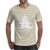 Moustache Christmas Tree Ho Ho Ho Snowflake Mens T-Shirt