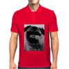 Moustache Tshirt Pug Mens Polo