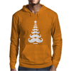 Movember Christmas Tree Moustache Beard Funny Mens Hoodie