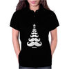 Movember Christmas Tree Moustache Beard Funny Womens Polo