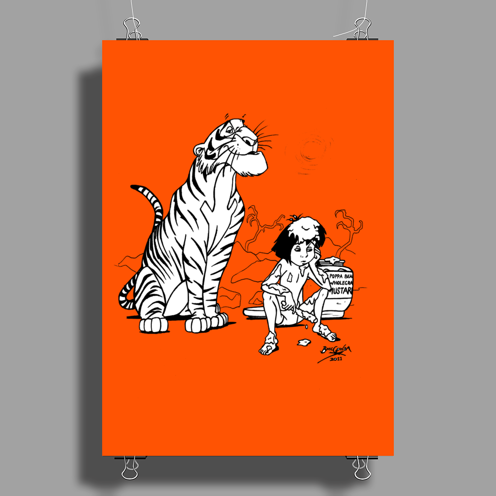 Mowgli has had enough of The Jungle Book Poster Print (Portrait)